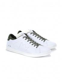 Leather Crown sneakers MLC06-602 white and dark khaki online