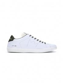 Leather Crown sneakers MLC06-602 bianche e khaki