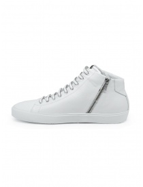 Leather Crown Earth white leather high sneakers