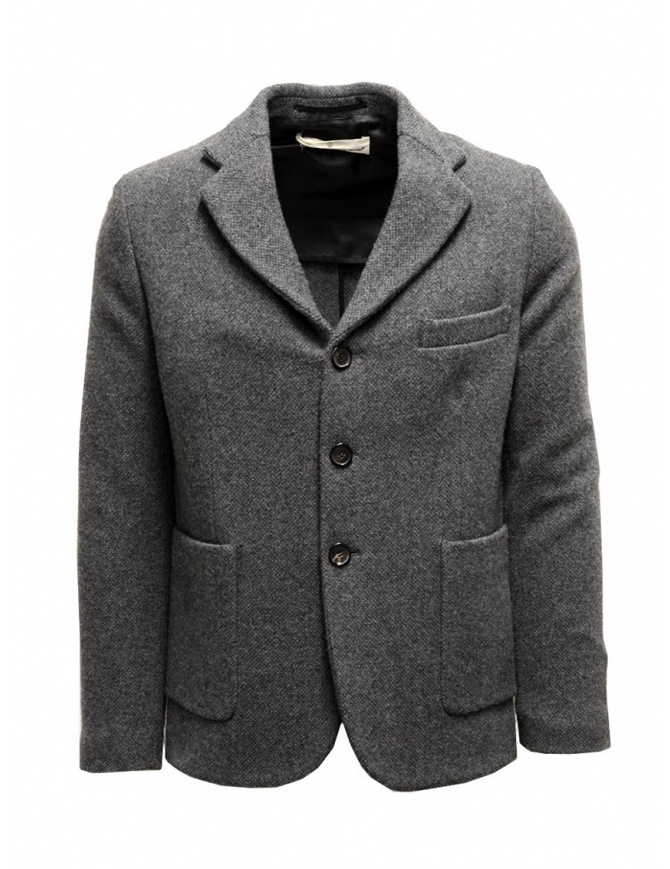 Grey Golden Goose Bill's suit jacket with scarf G23U531.A7 mens suit jackets online shopping