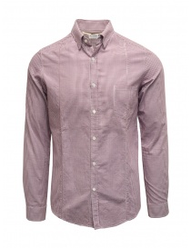 Golden Goose white and purple checked shirt online