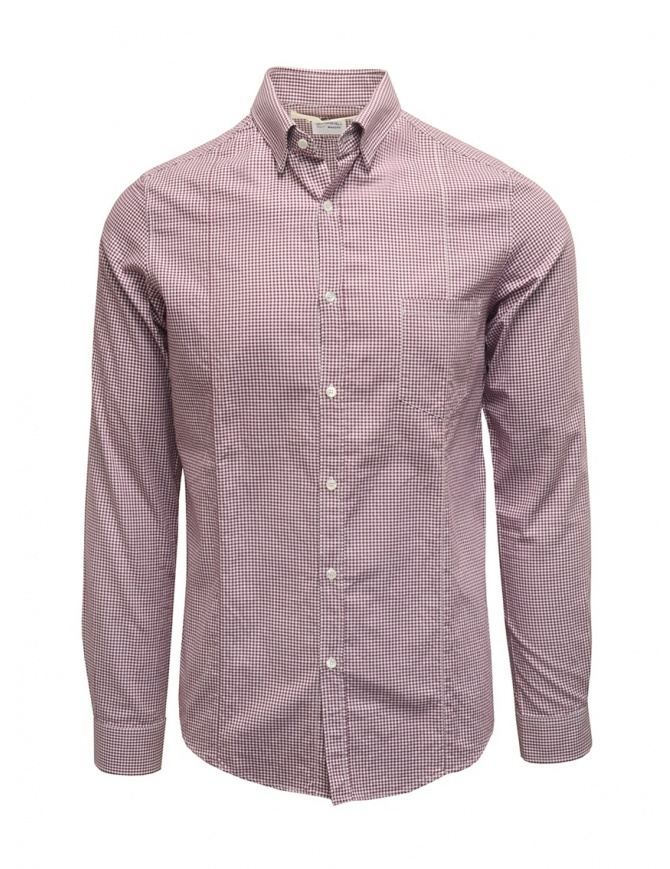 Golden Goose white and purple checked shirt G20U522.A7 mens shirts online shopping