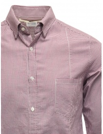 Golden Goose white and purple checked shirt price