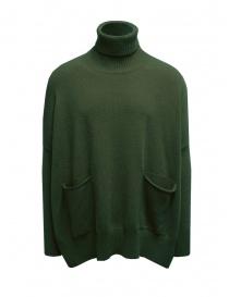 Ma ry ya military green turtleneck maxi sweater online