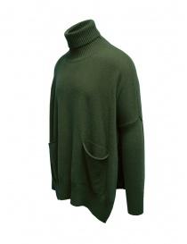 Ma ry ya maxi maglia a collo alto verde militare