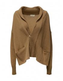 Womens knitwear online: Ma ry ya camel-colored wool cardigan