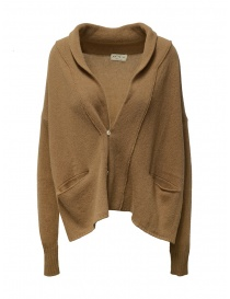 Ma ry ya cardigan in lana color cammello online