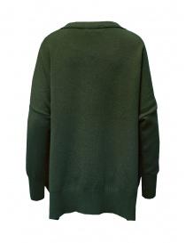 Ma ry ya sweater dress in military green wool
