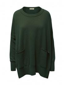 Womens knitwear online: Ma ry ya sweater dress in military green wool