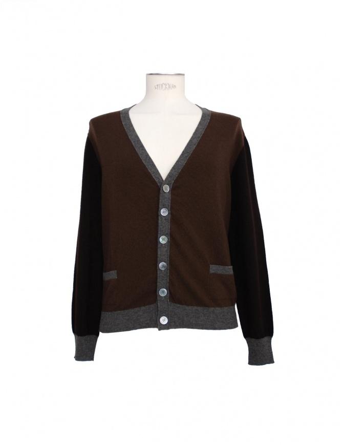 Golden Goose brown-grey cardigan G21U515_A1 mens cardigans online shopping