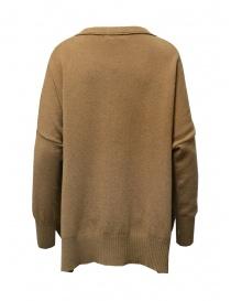 Ma ry ya maglia-vestito in lana color cammello