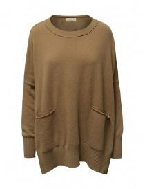 Ma ry ya maglia-vestito in lana color cammello online