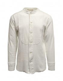 Camicia Haversack collo alla coreana bianca maniche lunghe online