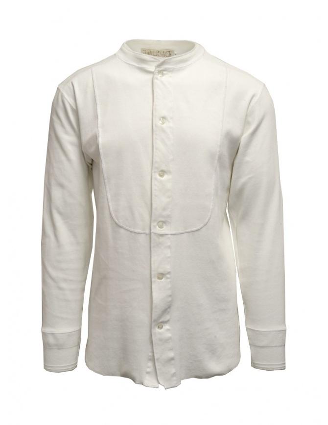 Haversack Mandarin collar white long-sleeved shirt 811622 01 WHITE mens shirts online shopping