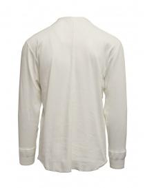 Camicia Haversack collo alla coreana bianca maniche lunghe