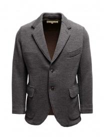 Giacca Haversack colore grigio texture diagonale online