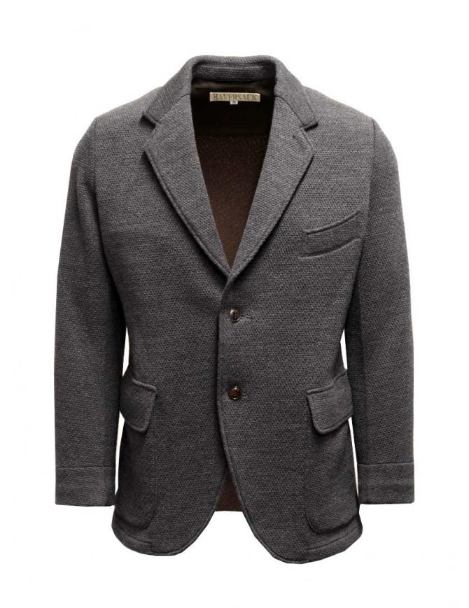 Giacca Haversack colore grigio texture diagonale 471524-04 giacche uomo online shopping