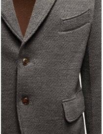 Giacca Haversack colore grigio texture diagonale prezzo