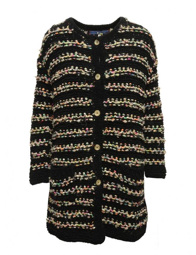 Cardigan Hiromi Tsuyoshi RS16-003 BLACK cardigan donna online shopping