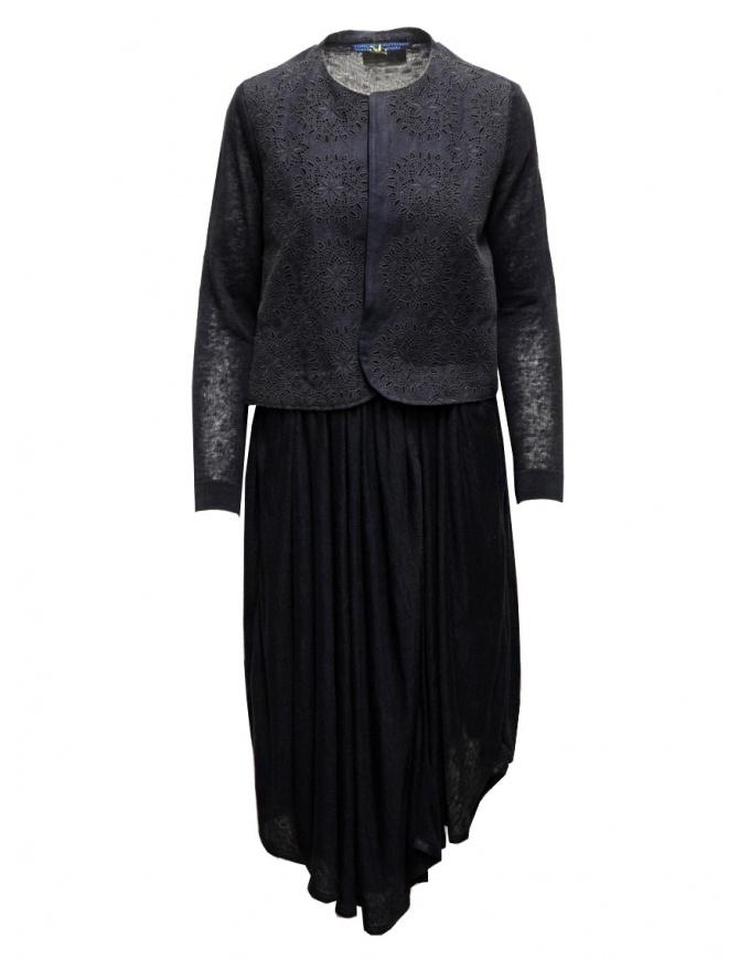 Abito Hiromi Tsuyoshi blu con top ricamato RS16-014 NAVY abiti donna online shopping