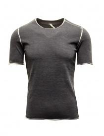 T-shirt Label Under Construction Punched Selvedge grigia online