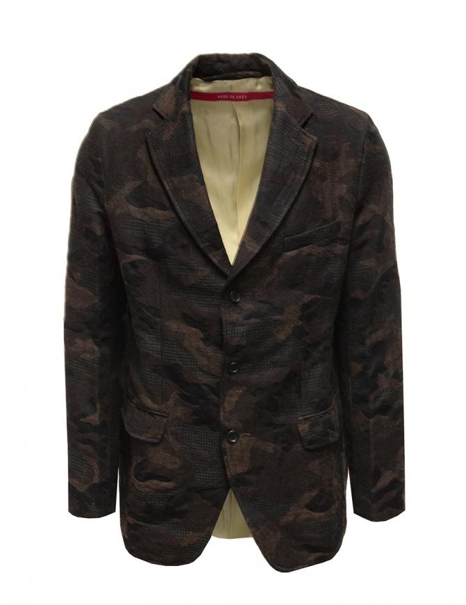 Sage de Cret camouflage jacket 3160 3965 60 BROWN mens suit jackets online shopping
