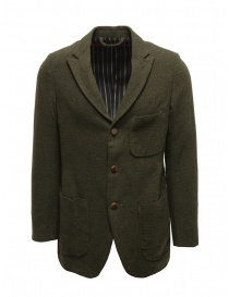 Giacca Sage de Cret nera verde scura in lana 31-50-3924 44