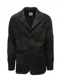 Mens suit jackets online: Sage de Cret blue and green checked jacket
