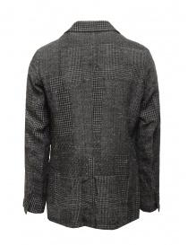 Giacca Sage de Cret in lana a quadri blu grigi