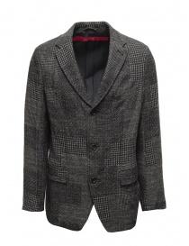 Sage de Cret blue grey checked wool jacket online