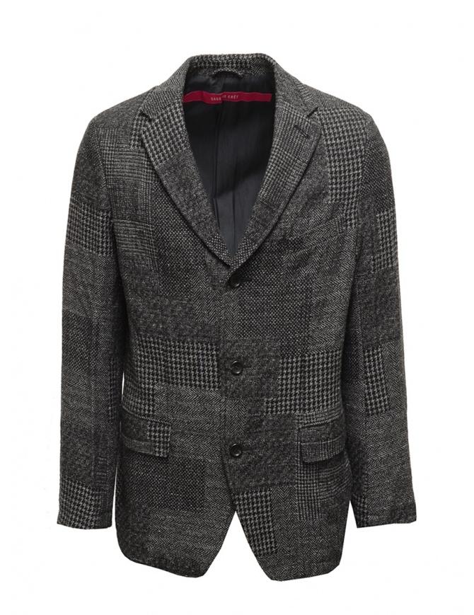 Giacca Sage de Cret in lana a quadri blu grigi 31-50-3922 50 giacche uomo online shopping