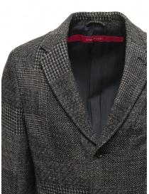 Giacca Sage de Cret in lana a quadri blu grigi prezzo