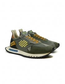 BePositive Space Run military green sneakers F1SPACE01/NYS/MIL order online
