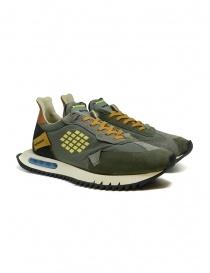 Calzature uomo online: BePositive Space Run sneakers verde militare