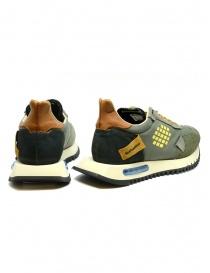 BePositive Space Run military green sneakers price
