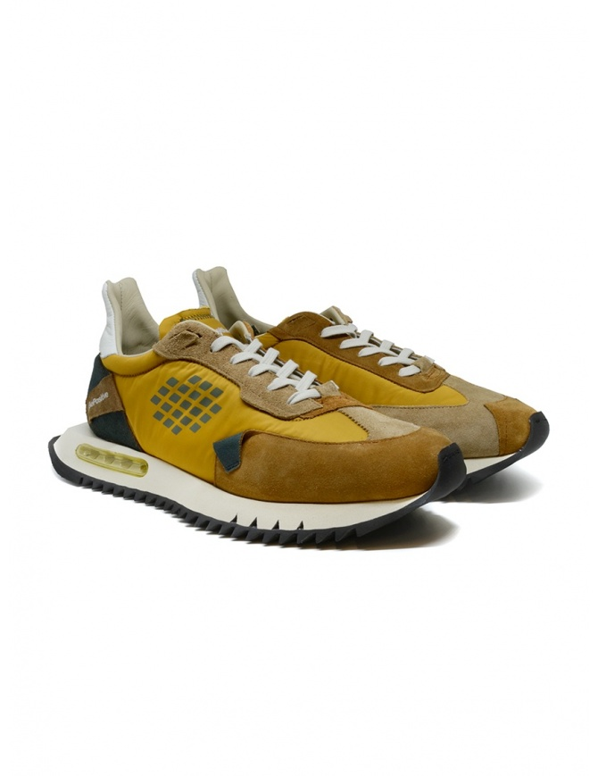 BePositive Space Run mustard yellow sneakers F1SPACE01/NYS/YEL mens shoes online shopping