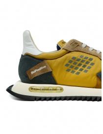 BePositive Space Run mustard yellow sneakers mens shoes buy online