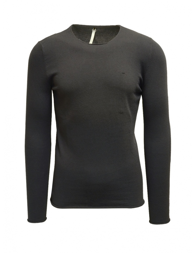 Label Under Construction Designer grey sweater 22YMSW49 CO148 RG 22/77 mens knitwear online shopping