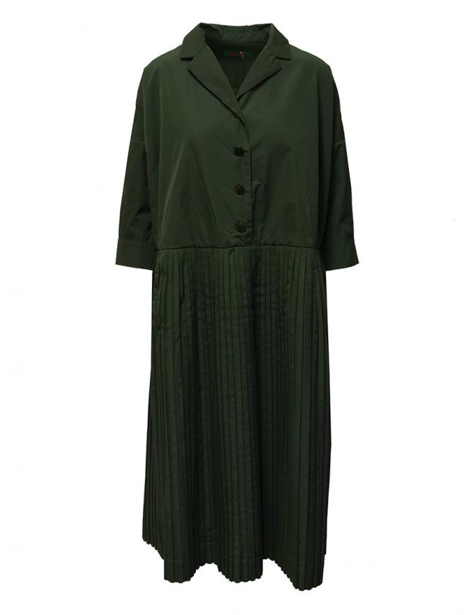 Casey Casey T Plee 2 pleated khaki dress 17FR285 KAKI womens dresses online shopping