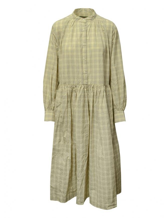 Casey Casey Natural Check Yuki long dress 17FR288 NATURAL womens dresses online shopping