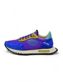 BePositive Space Run purple sneakers