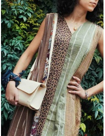 Kapital long sleeveless dress in mixed brown pattern womens dresses price