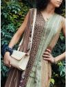 Kapital long sleeveless dress in mixed brown pattern price K2004OP146 BR shop online