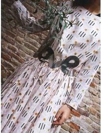 Casey Casey light pink dress in geometric flower print womens dresses buy online