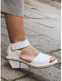 Trippen Scale F white leather sandals buy online price