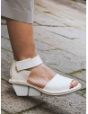 Trippen Scale F white leather sandals price SCALE F WAW WHITE shop online
