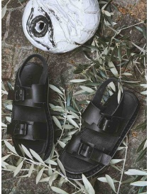 Trippen Back sandals in black leather womens shoes price