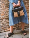 Zucca wicker and black eco-leather bag price ZU07AG125-26 BLACK shop online