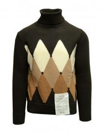 Ballantyne Raw Diamond brown, camel, white turtleneck sweater online