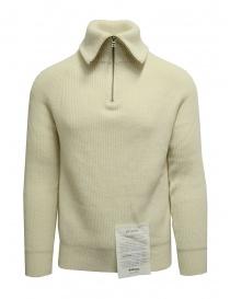 Ballantyne Raw Diamond pullover bianco a collo alto con zip online